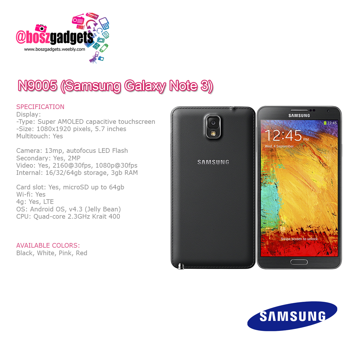Samsung Products - @boszgadgets